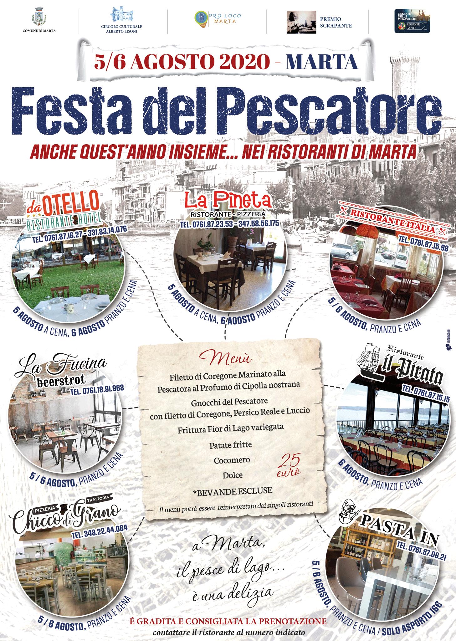 5/6 Agosto 2020 - Festa del Pescatore